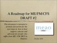 A Roadmap for ME/FM/CFS DRAFT #2 - meao