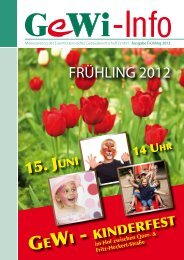 GeWi - kinderfest - Eisenhüttenstädter Gebäudewirtschaft GmbH