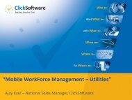 Mobile Work Force Management –Utilities - NPTI