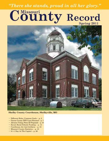 Missouri County Record Spring 2011 (PDF) - Missouri Association of ...