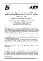 Applications of high-resolution images and DTMs for detailed ...