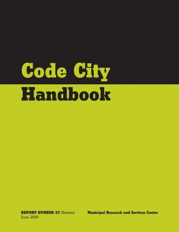 Code City Handbook - Municipal Research and Services Center of ...