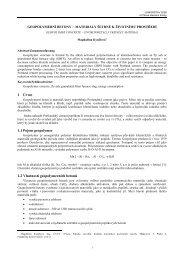 Geopolymerní betony- materiály šetrné k ... - Fakulta stavební