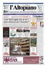 Cave: fuori regola una su tre e - Il Giornale dell'Altopiano