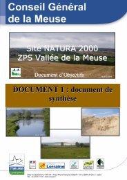 Rapport global DOCOB - DREAL Lorraine