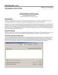 DataCAD Batch Plot Scripting - DataCAD LLC