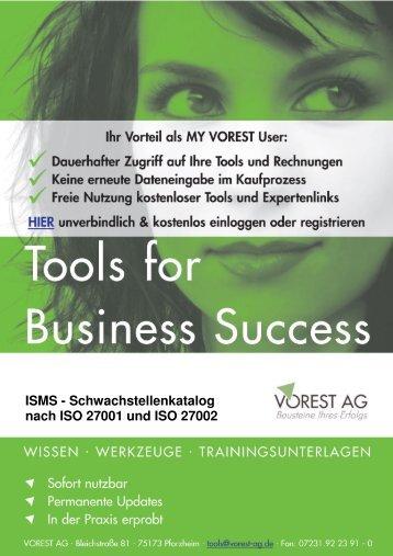 ISMS - Schwachstellenkatalog nach ISO 27001 und ISO ... - Vorest AG