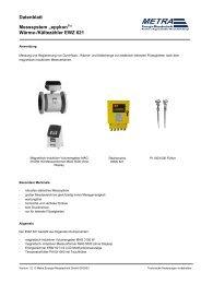 "Datenblatt Messsystem ""epykon "" Wärme ... - METRA Energie"