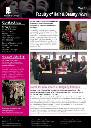 Faculty of Hair & Beauty News - Leeds City College