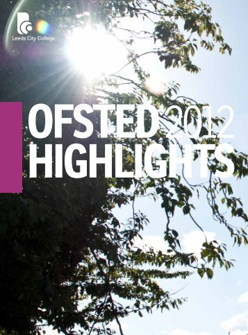 Ofsted highlights - Leeds City College