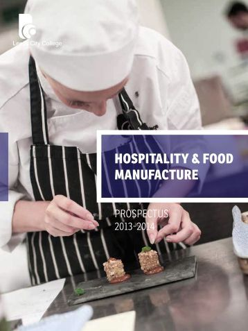 Hospitality & Food ManuFacture - Leeds City College