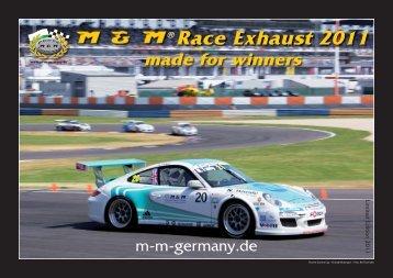 Race Exhaust 2011 - M & M Exhaust GmbH
