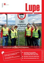 Lupe 2013/01 - SPÖ Oberösterreich