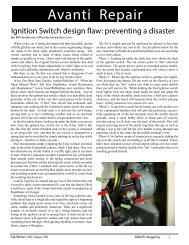 Avanti Ignition Switch Improvement - Studebaker-info.org