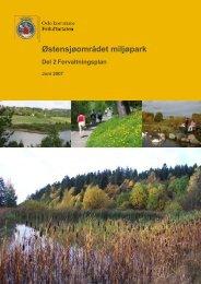 Forvaltningsplan for Østensjøområdet miljøpark