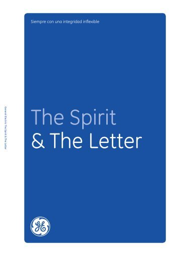 The Spirit & The Letter Download in Spanish (Mexico): GE Code of ...