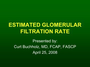ESTIMATED GLOMERULAR FILTRATION RATE
