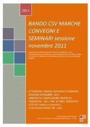 BANDO CSV MARCHE CONVEGNI E SEMINARI sessione ...