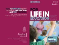 For life in education brochure 2010
