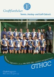 NEU - Grossflottbeker Tennis- Hockey