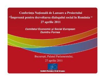 Prezentarea Comitetului Economic si Social European