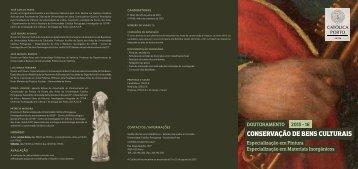 conservação de bens culturais - Católica Porto - Universidade ...