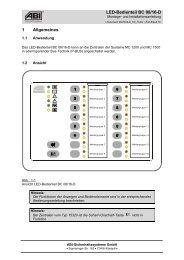 LED-Bedienteil BC 08/16-D 1 Allgemeines - ABI Sicherheitssysteme ...