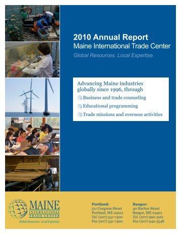 2010 Annual Report - Maine International Trade Center