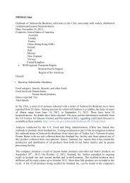 INFOSAN Alert Outbreak of Salmonella Bredeney infections in the ...