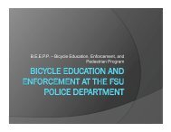 University Bike Ed Enforcement - Florida Bicycle Association