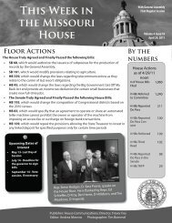 April 29, 2011 - Missouri House of Representatives