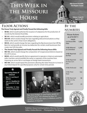 April 29, 2011 - Missouri House of Representatives