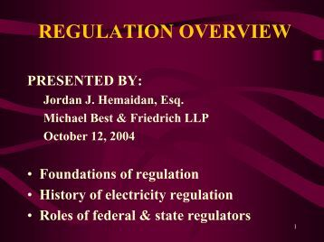 Overview of Regulation