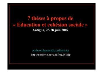 Education et cohésion sociale - Norberto Bottani