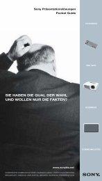 SIE HABEN DIE QUAL DER WAHL UND ... - Sony Professional