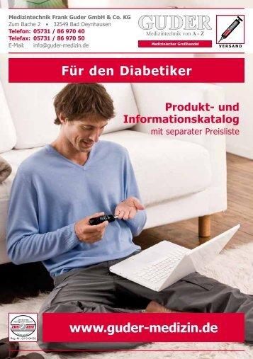 Diabetes-Katalog - Medizintechnik Frank Guder GmbH & Co. KG