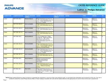 CROSS REFERENCE GUIDE Lutron to Philips ... - Philips Lighting  sc 1 st  Yumpu & CROSS REFERENCE GUIDE Venture to Philips ... - Philips Lighting azcodes.com