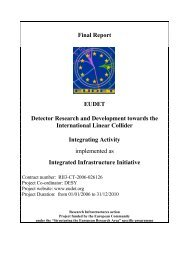 Final Report EUDET Detector Research and Development towards ...