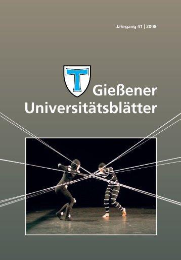 Gießener Universitätsblätter - Gießener Hochschulgesellschaft e.V.