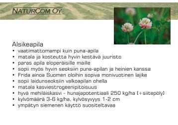 Alsikeapila - ProAgria Oulu