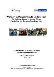 Wohnen in Münster heute und morgen - Wohnen im Wandel