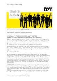 NULLNULL7 – FEUER, WASSER, LUFT & ERDE - Architekten0711