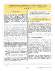 Gestion intégrée des ressources en eau - anafide