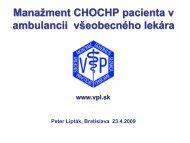 Manažment CHOCHP pacienta v ambulancii všeobecného lekára ...