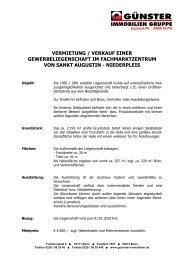 VERMIETUNG / VERKAUF EINER GEWERBELIEGENSCHAFT IM ...