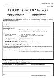 Förderung einer Solaranlage - Gemeinde Hippach