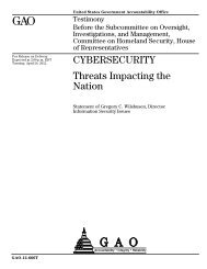 CYBERSECURITY Threats Impacting the Nation - The House ...