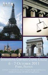 6 - 7 OCTOBER 2011 - International Association of Defense Counsel