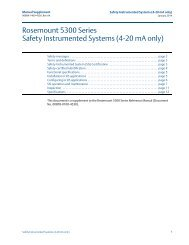 Rosemount 5300 Series Safety Instrumented Systems (4-20 mA only)