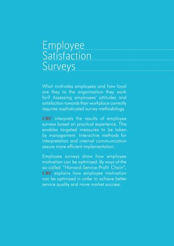Employee Satisfaction Surveys - CBC Marketing Research